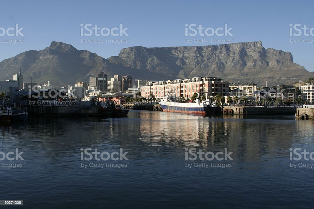 morning view of table mountain stock photo