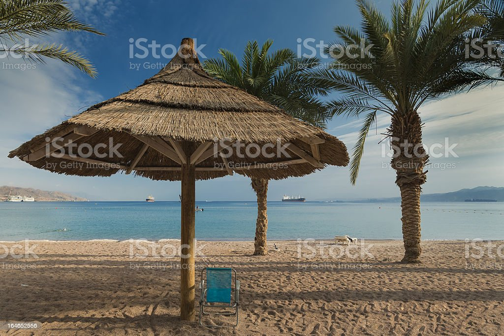 Morning view on the Red sea from Eilat stock photo