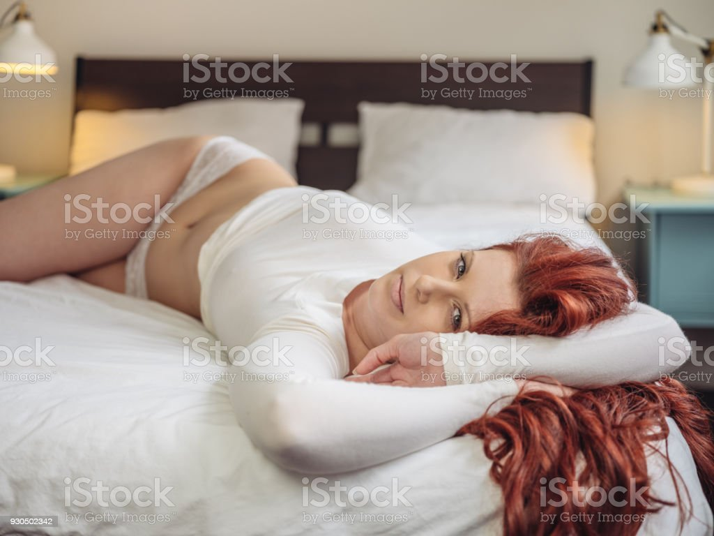 Morning waking up stock photo