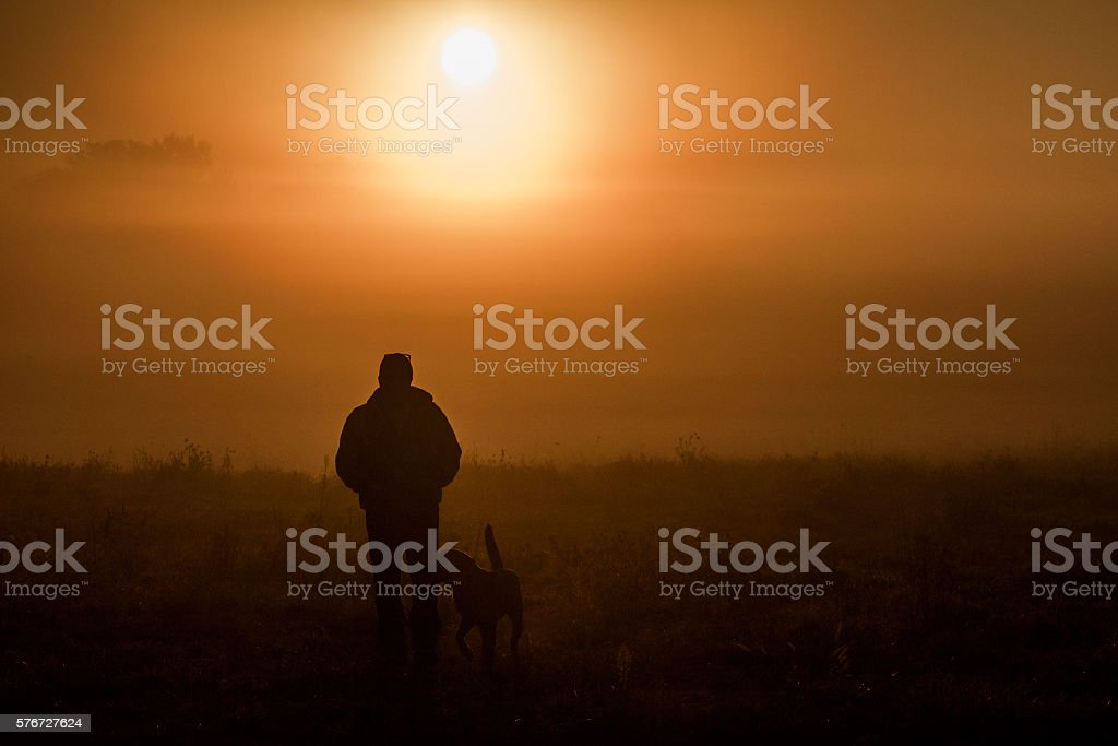 Morning Walk stock photo