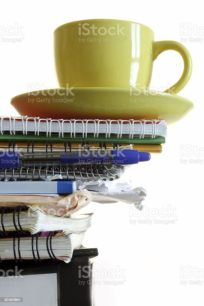 Morning Workload royalty-free stock photo