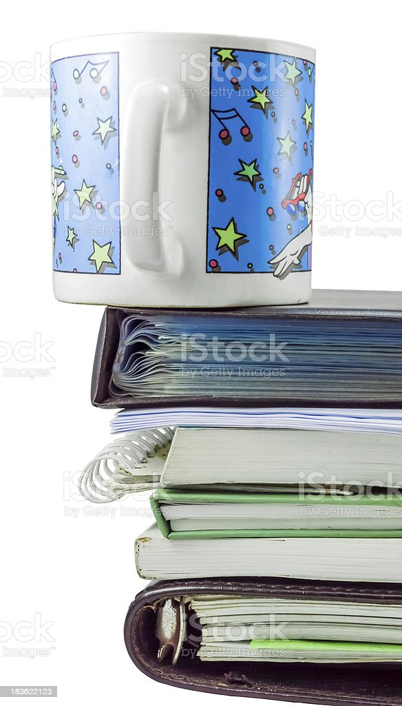 Morning Workload with clipping path stock photo