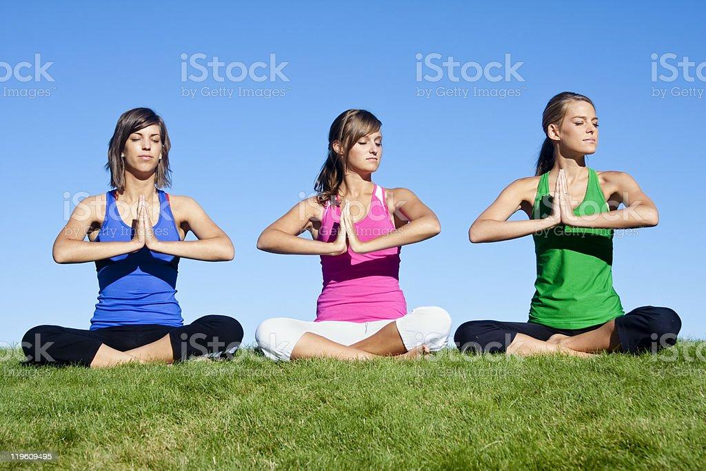 Morning Yoga Group royalty-free stock photo