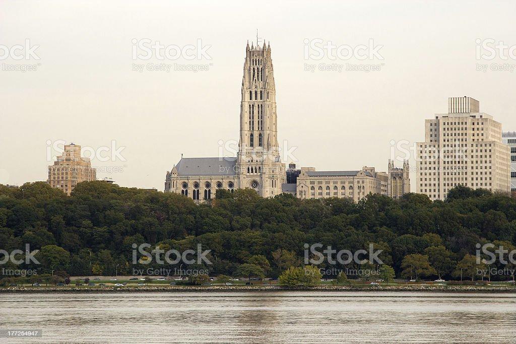 Morningside Heights skyline, NY stock photo