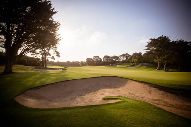 Mornington Peninsula Golf Course stock photo