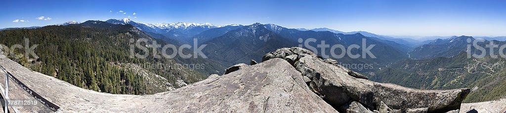 Moro Rock Panorama stock photo