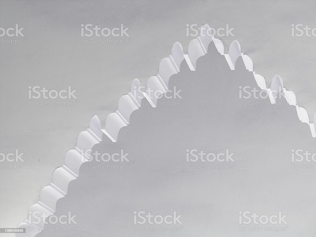 Moroccan arch stock photo