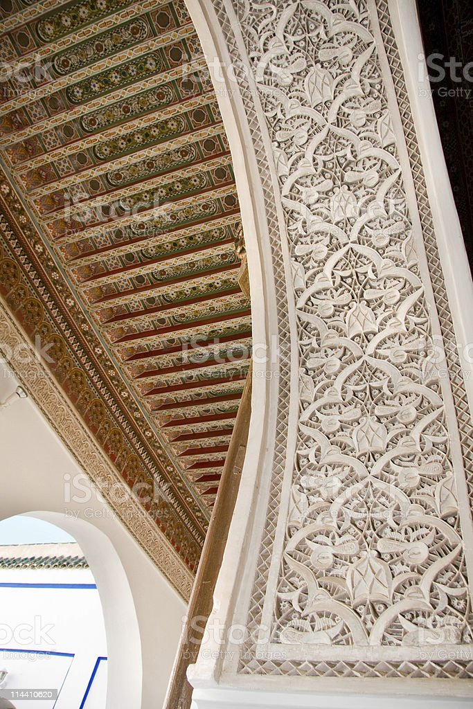 moroccan architectural detail royalty-free stock photo