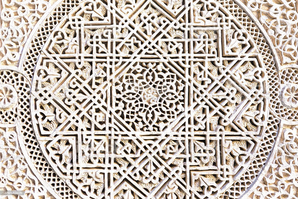 Moroccan architecture detail as background stock photo