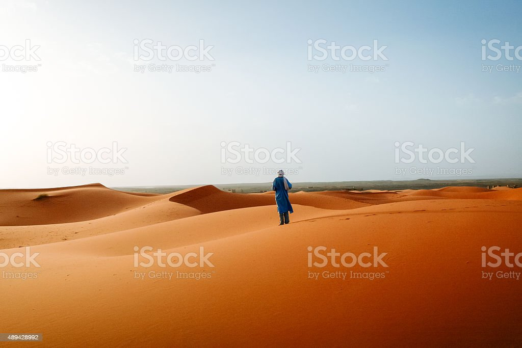 Moroccan Bedouin stock photo