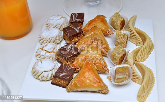 1189561410 istock photo Moroccan biscuits are served with tea. 1189561327