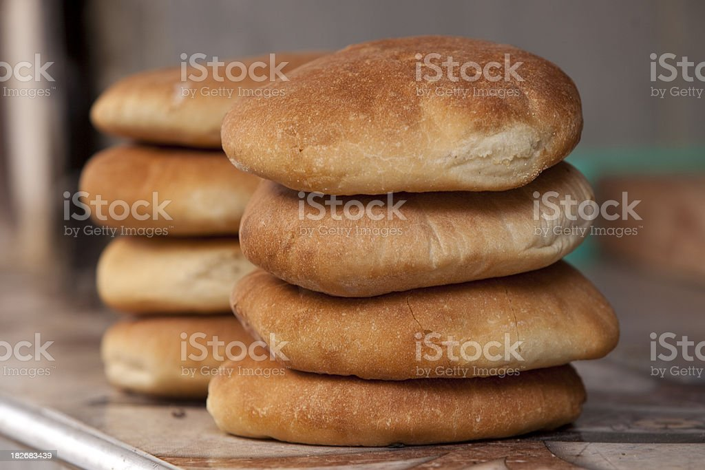 Moroccan bread Fresh moroccan bread ready to be sold. Baked Stock Photo