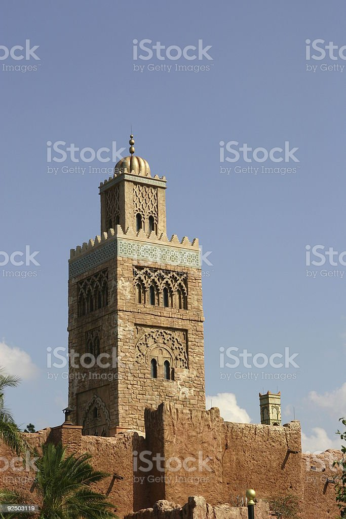 moroccan building royalty-free stock photo