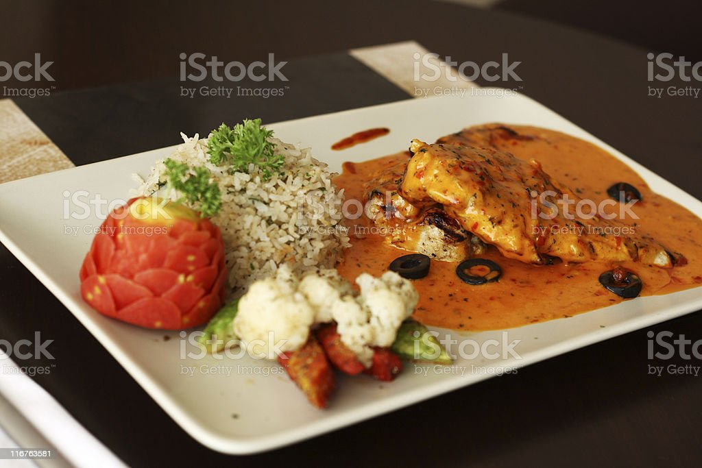 Moroccan Chicken royalty-free stock photo