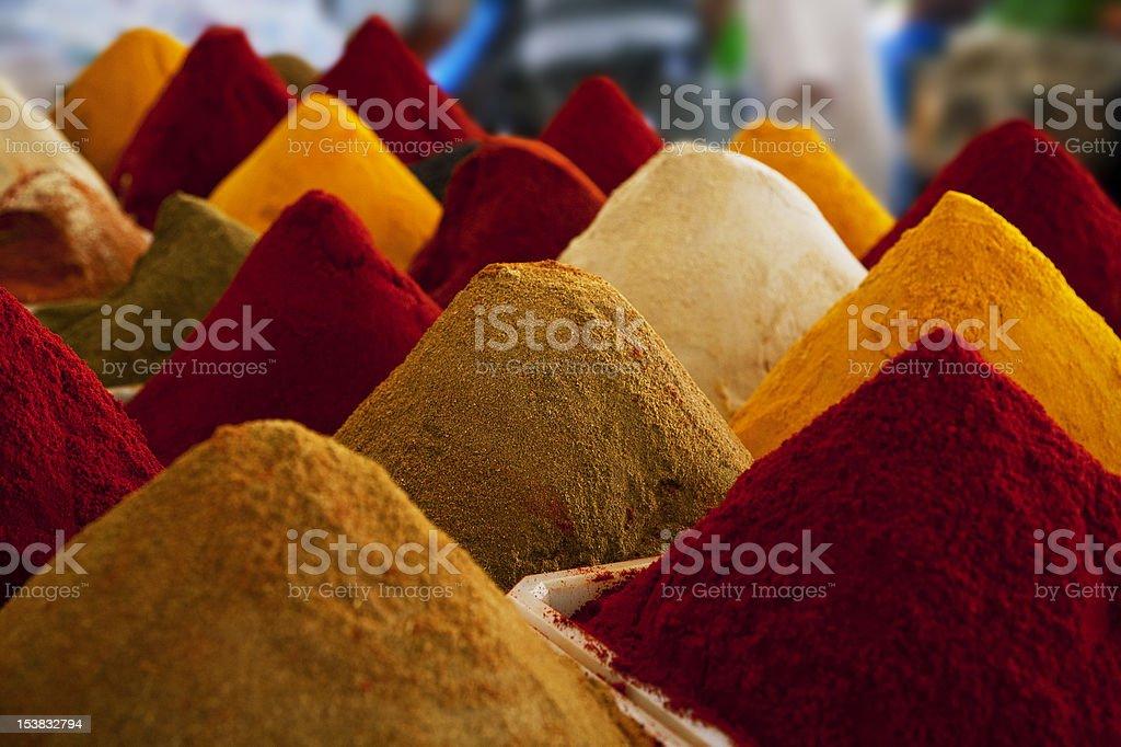 Moroccan colour powder spices stock photo