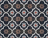 Moroccan decorative tile textured