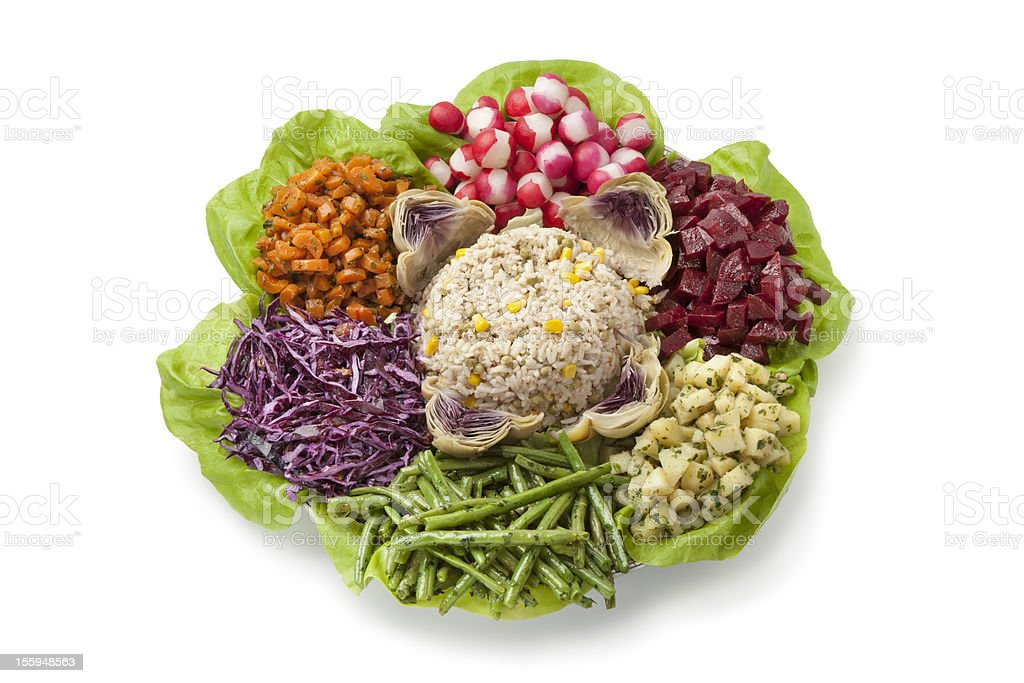 Moroccan dinner salad royalty-free stock photo