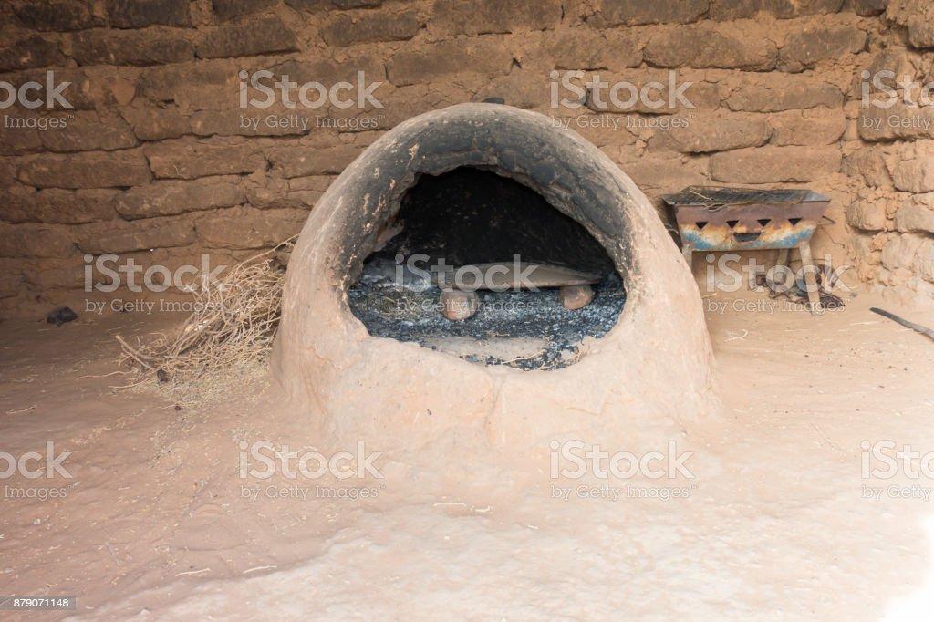 Marokkanische Erde Ofen in einem Berber Haus – Foto