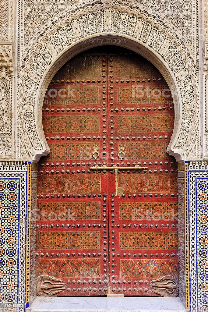 Moroccan entrance royalty-free stock photo