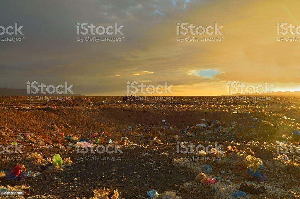 Moroccan Environmental Destruction stock photo
