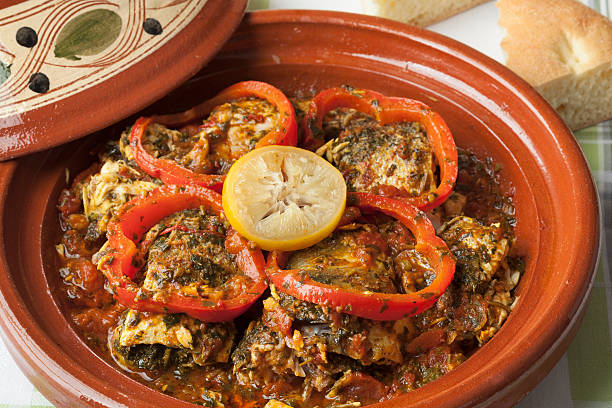 39 Moroccan Fish Tagine With Chermoula Stock Photos, Pictures &  Royalty-Free Images - iStock