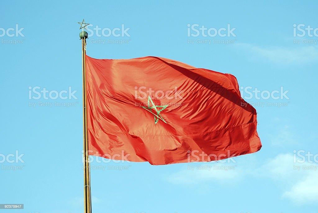 Marokkanische Flagge Lizenzfreies stock-foto