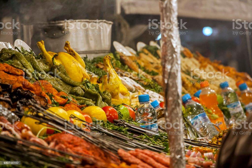 Moroccan food. Street market. stock photo
