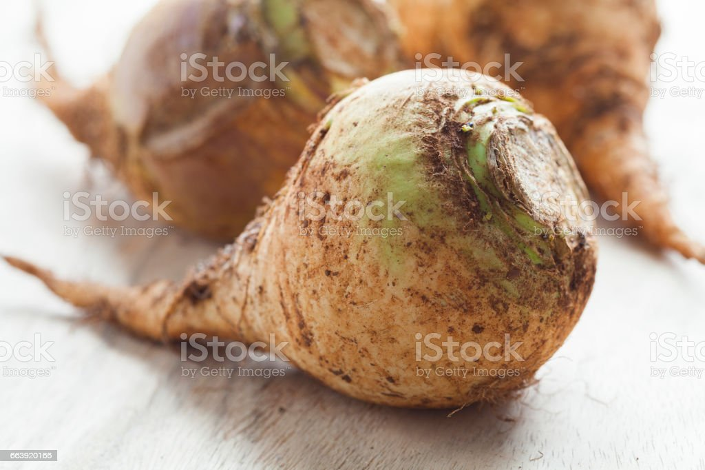 Moroccan fresh swedes stock photo