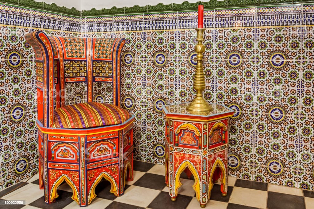 Moroccan Furniture Stock Photo - Download Image Now