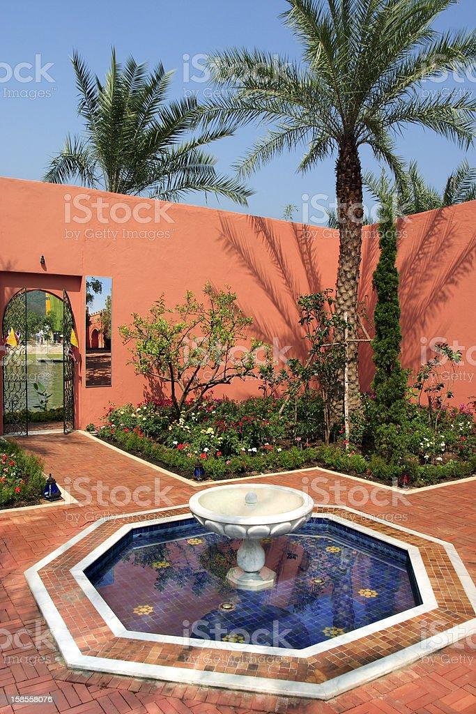 모로코 정원 스타일의 파크 royalty-free 스톡 사진