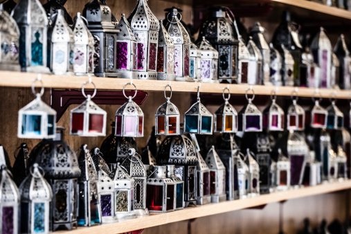 994119256 istock photo Moroccan glass and metal lanterns lamps in Marrakesh souq 177865329