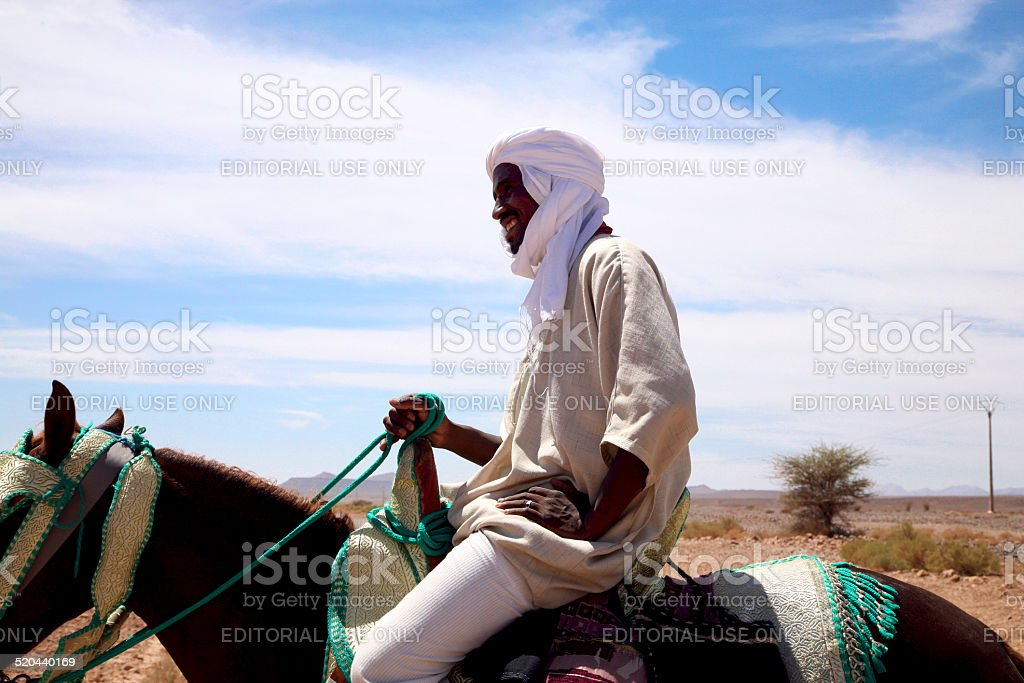 Moroccan Horse Rider On The Road To Marrakesh Stock Photo Download Image Now Istock