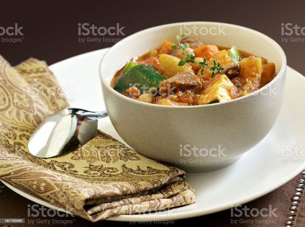 Moroccan Lamb Stew royalty-free stock photo