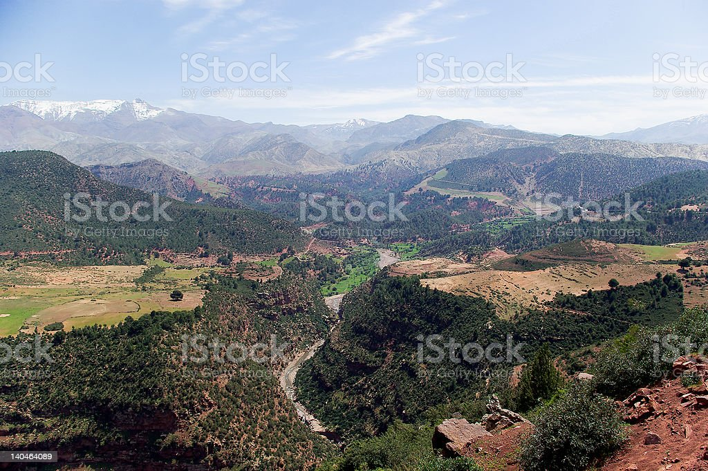 Moroccan landscape royalty-free stock photo