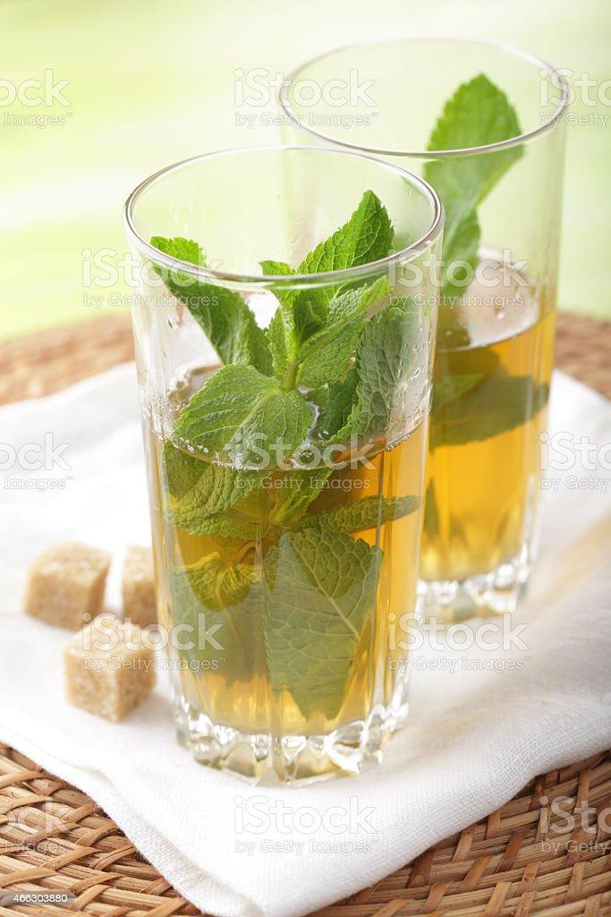 Moroccan mint tea stock photo