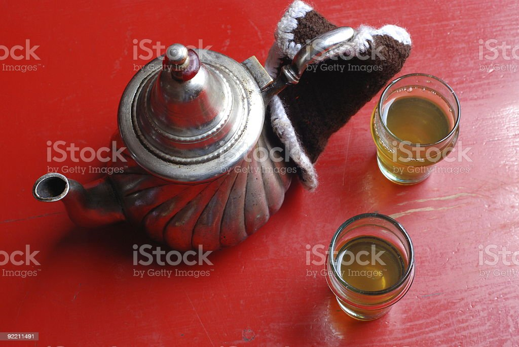 Moroccan mint tea royalty-free stock photo