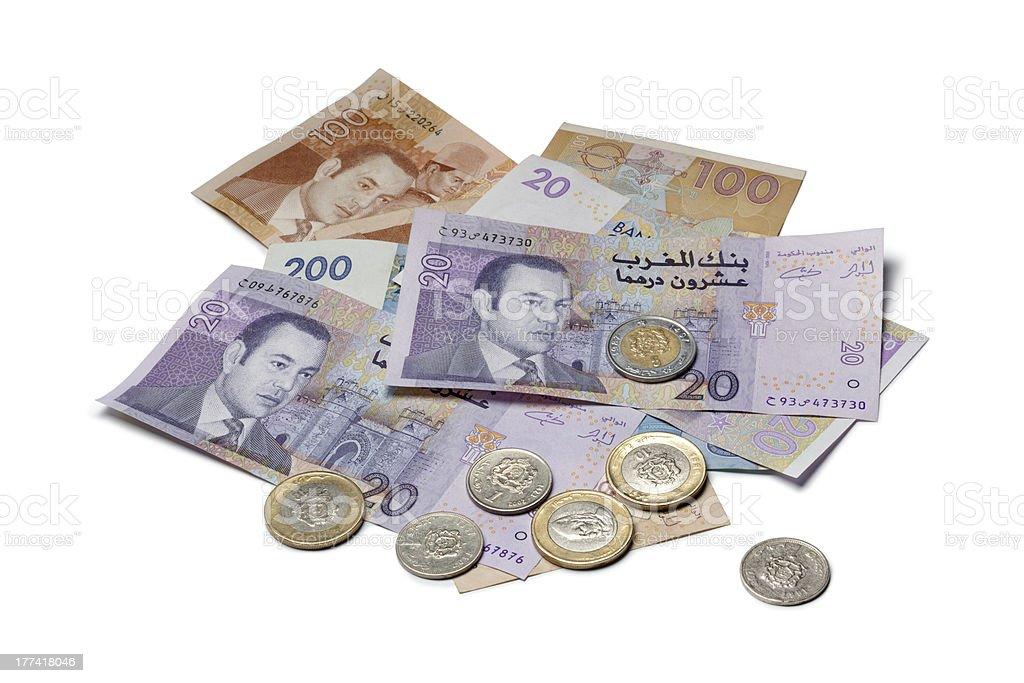 Moroccan money stock photo