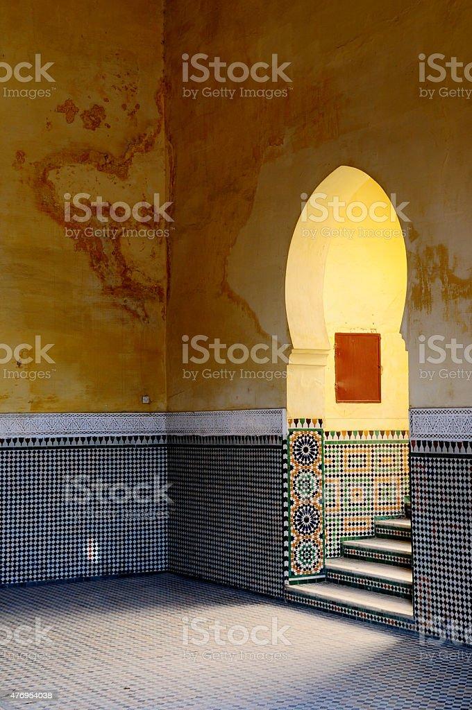 Moroccan, Moorish architectural elements. Entrance. stock photo