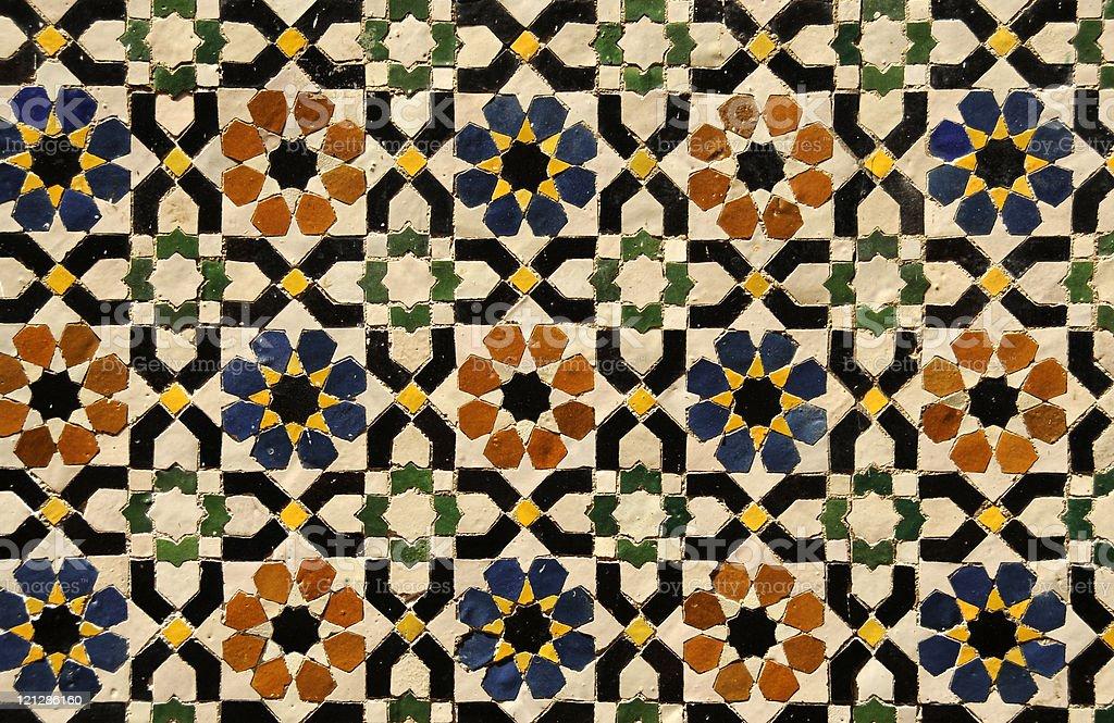 Riempire cornice mosaico marocchina fotografie stock e altre