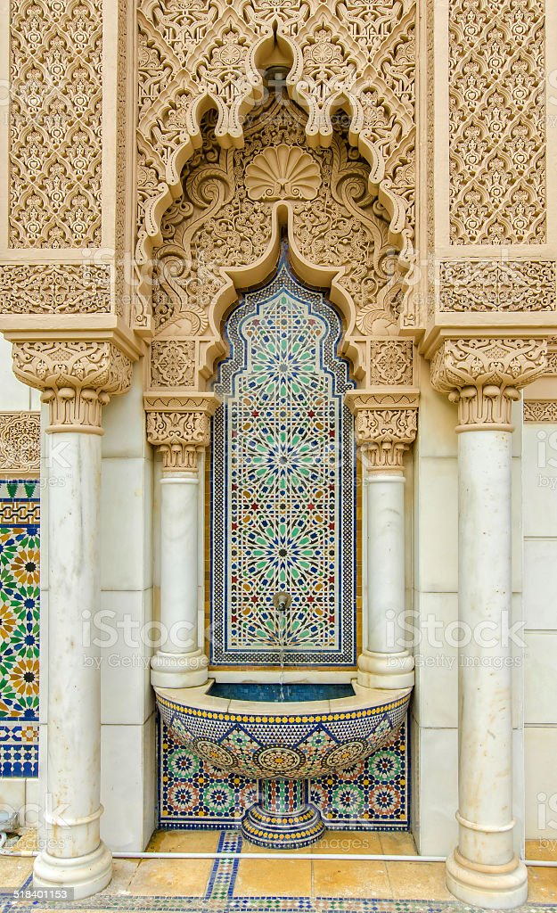 Moroccan Pavilion in Putrajaya Malaysia stock photo