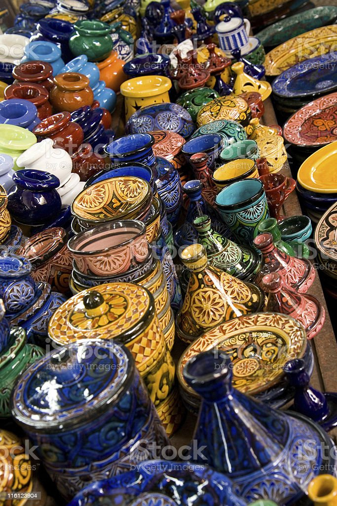 Moroccan pottery royalty-free stock photo