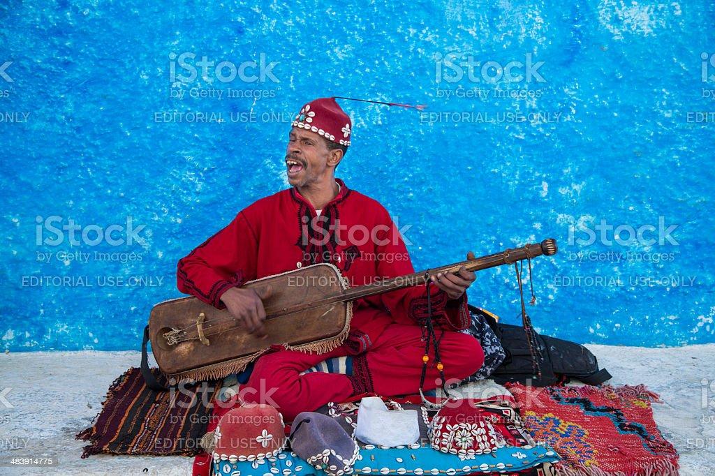Moroccan Rabat Street Musician stock photo