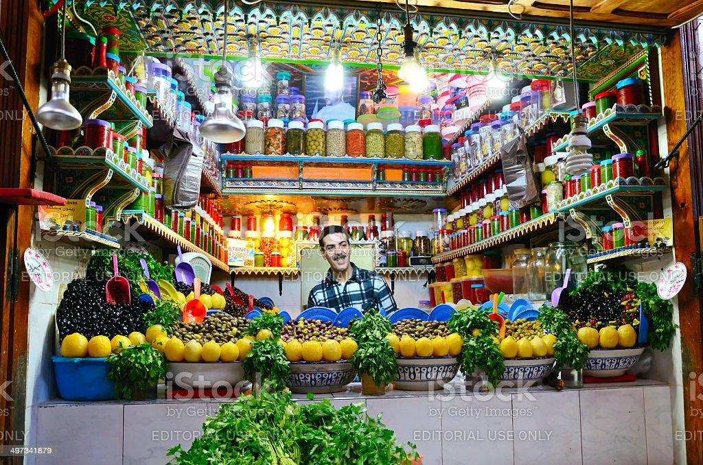 Moroccan street  market stock photo