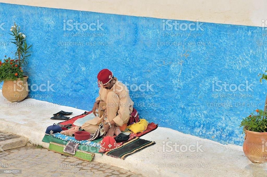 Moroccan Street Musician stock photo