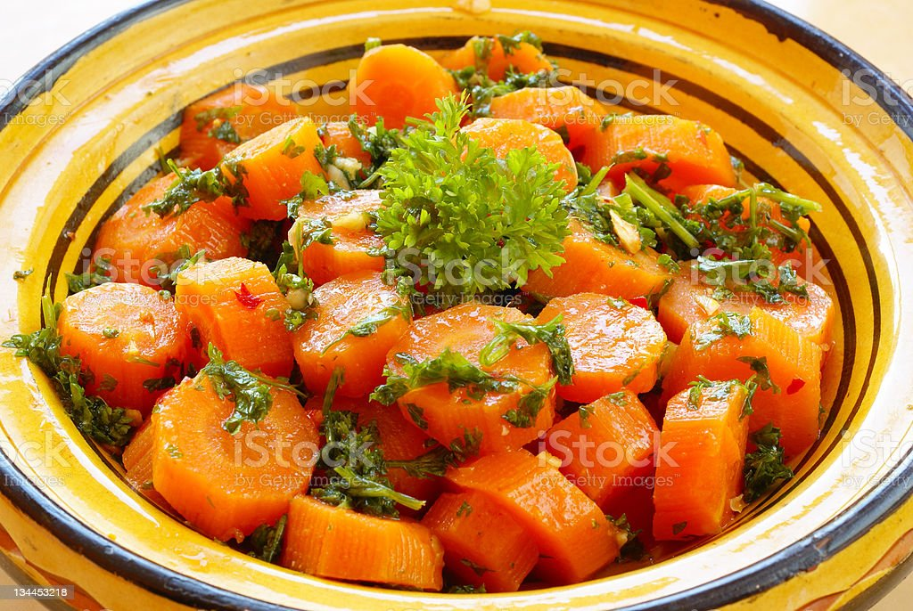 Moroccan style carrots royalty-free stock photo