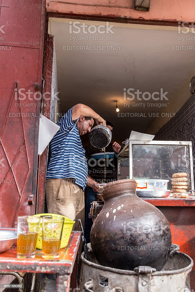Moroccan style take away stock photo
