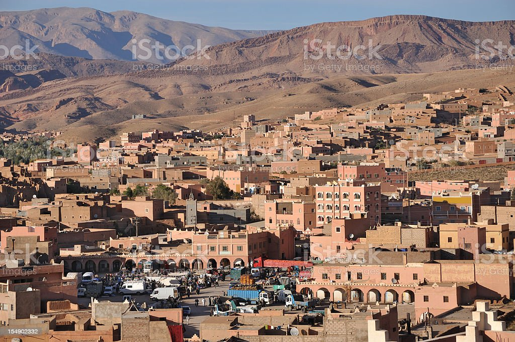 Moroccan sunset royalty-free stock photo