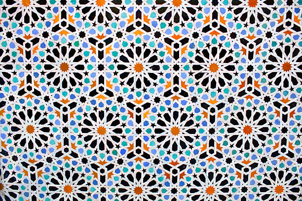Moroccan tile background Moroccan tile background close-up arabic style stock pictures, royalty-free photos & images