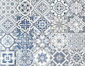 Moroccan tile seamless textured