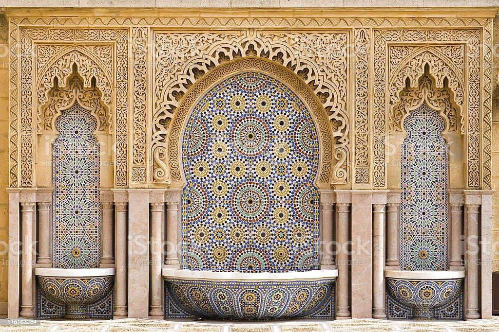 Piastrelle marocchine fontana fotografie stock e altre immagini
